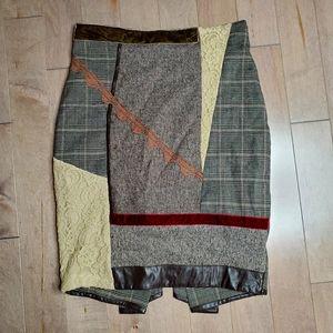 90's Rina Scimento Patchwork skirt